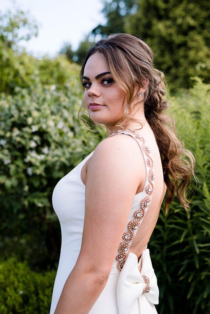 Elegant prom dress photography Telford