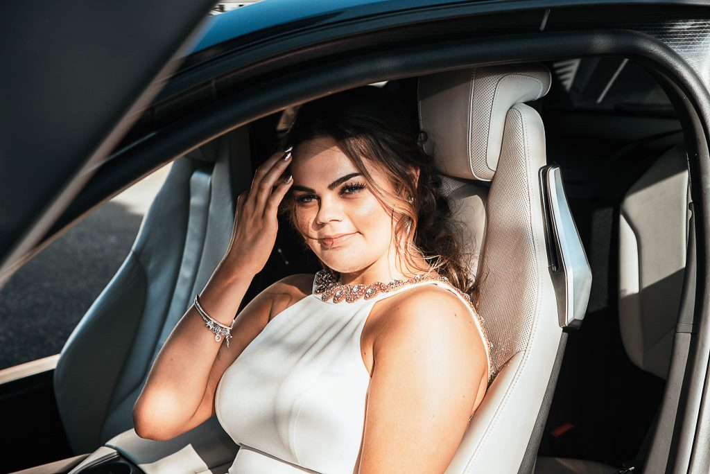 Prom Photographer Car BMW i8 Make Up School Prom Dress Telford Shropshire